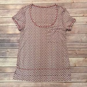 Lululemon Chevron t-shirt Red short sleeve sz 8
